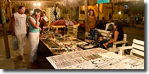 Shopping for souvenirs in San Pedro, Ambergris Caye